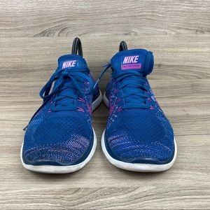 NIKE FREE 4.0 FLYKNIT RUNNING SHOES BRAVE BLUE